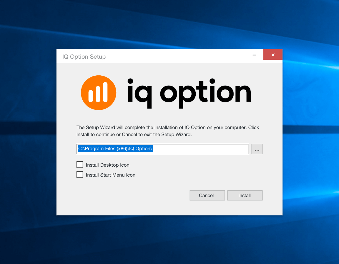 Installing application for Windows OS