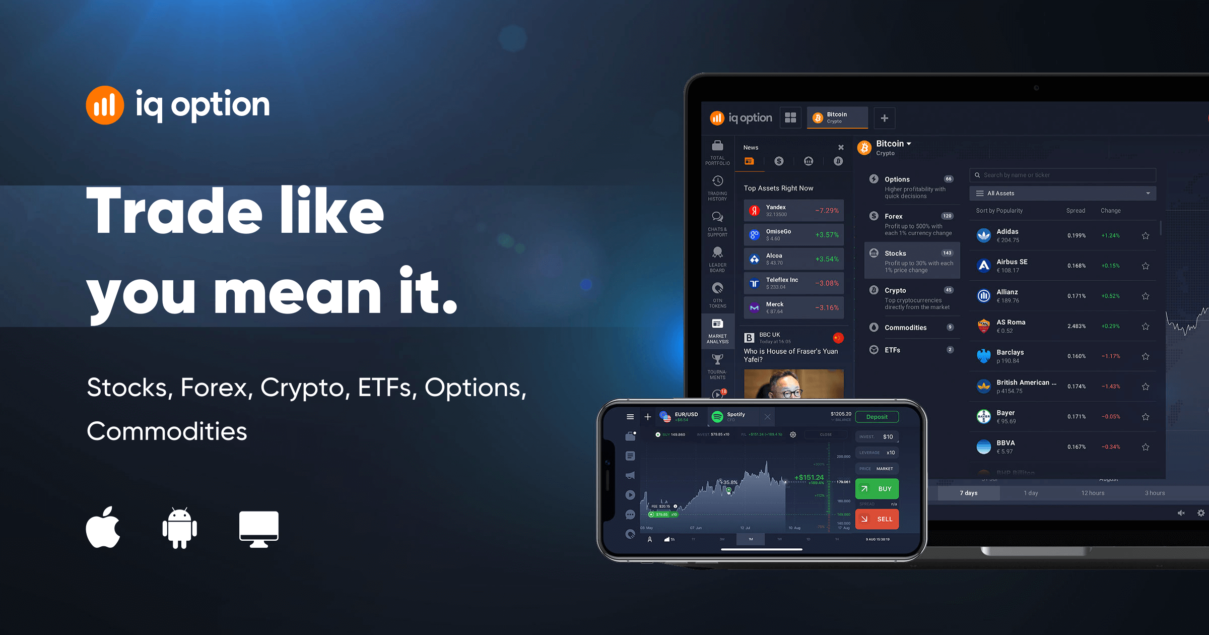 Explore binary and digital options trading | IQ Option